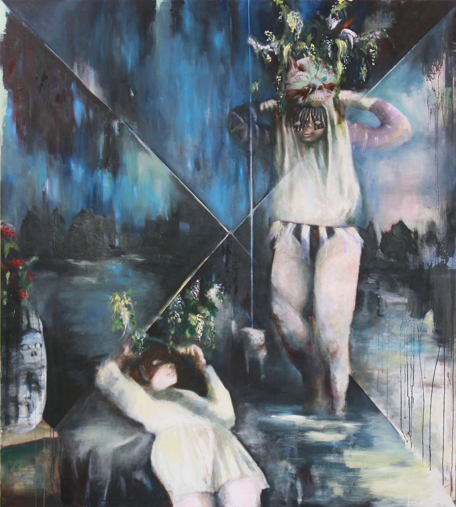 oil on canvas,  200 x 180 cm