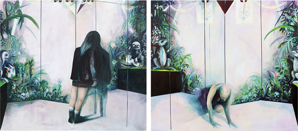 oil on canvas, diptych 180 x 400 cm